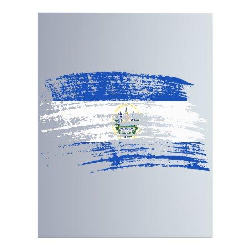 Diseño salvadoreño fresco de la bandera flyer personalizado