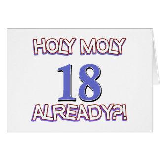 Diseño santo del cumpleaños de Moly 18 ya Felicitación