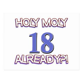 Diseño santo del cumpleaños de Moly 18 ya Tarjeta Postal
