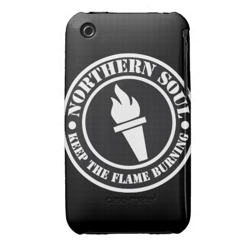 Diseño septentrional retro de la llama del alma iPhone 3 protector