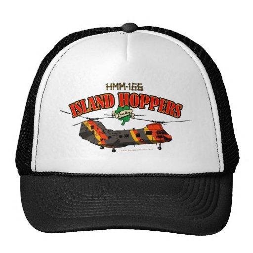 Diseño simple de las tolvas de la isla gorras de camionero