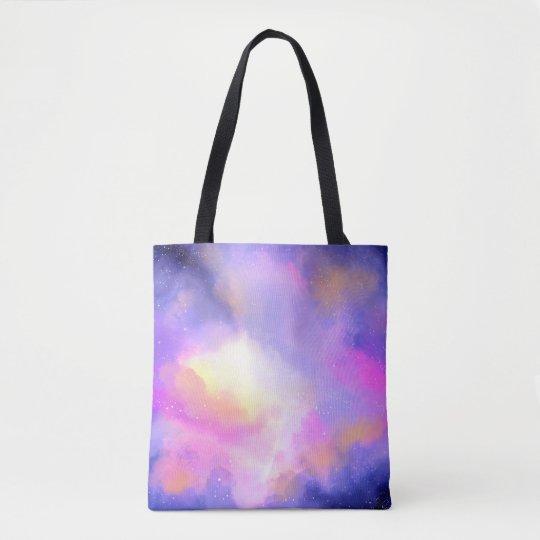 Diseño surrealista fresco de la acuarela de las bolso de tela