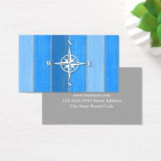 Diseño temático náutico tarjeta de visita