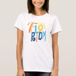 Diseño tipográfico de la diversión de la Florida Camiseta