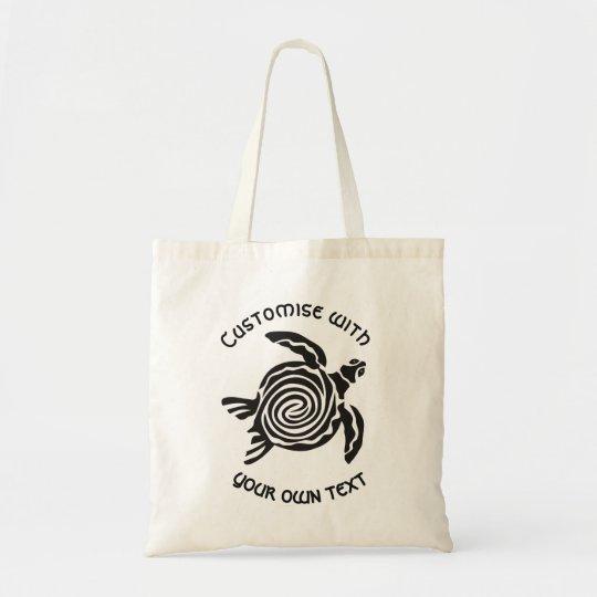 Diseño tribal de encargo de la tortuga bolso de tela