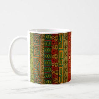 Diseño tribal étnico de la materia textil taza de café