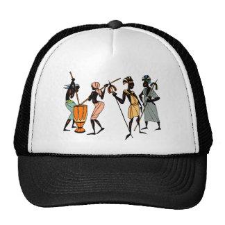 Diseño tribal nativo étnico africano gorros bordados