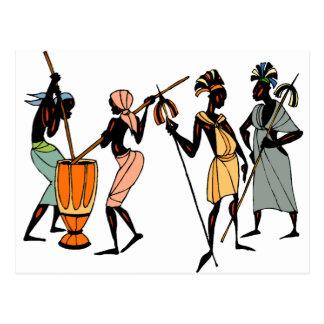 Diseño tribal nativo étnico africano postal
