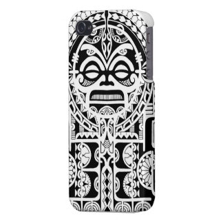 Diseño tribal polinesio del tatuaje con la máscara iPhone 4 protector