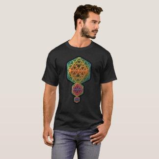 Diseño tridimensional complejo y colorido del camiseta
