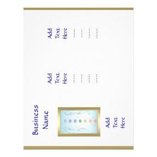 Diseño triple de la plantilla de las manos flyer