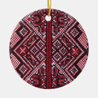 Diseño ucraniano tradicional adornos de navidad