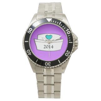 Diseño único 2014 del casquillo de la enfermera reloj de mano