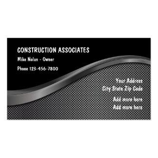 Diseño único de la construcción tarjetas de visita