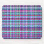 Diseño único femenino de la tela escocesa de la fr alfombrillas de ratones