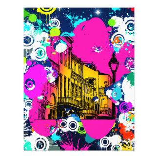 diseño urbano de la salpicadura de la pintura de l tarjetón