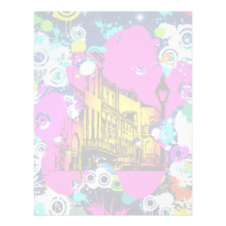 diseño urbano de la salpicadura de la pintura de l folleto 21,6 x 28 cm