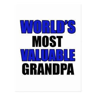 diseño valioso del abuelo tarjetas postales