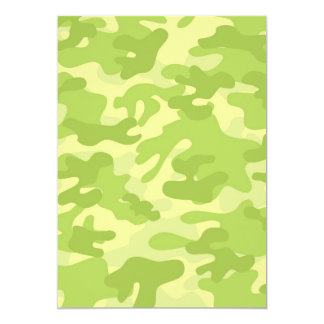 Diseño verde de Camo Invitación 12,7 X 17,8 Cm