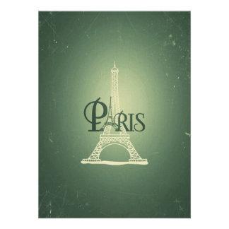 Diseño verde de París de la torre Eiffel del Comunicados Personales