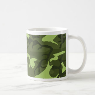 Diseño verde del camuflaje del ejército taza