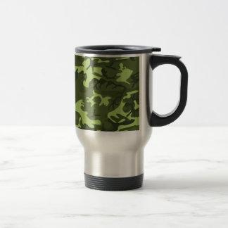 Diseño verde del camuflaje del ejército taza de viaje