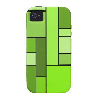 Diseño verde del entarimado iPhone 4/4S carcasas