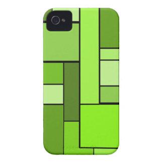 Diseño verde del entarimado iPhone 4 Case-Mate protector