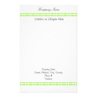 Diseño verde del vínculo papelería