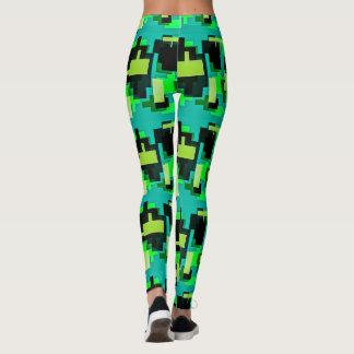 Diseño verde en las polainas leggings