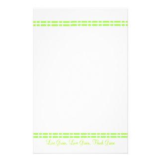 Diseño verde moderno papelería