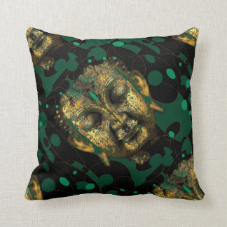 Diseño verde resumido moderno de Buda por Sharles Cojines