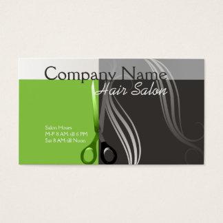 Diseño verde y gris de la tarjeta de visita del