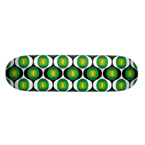 Diseño verde y negro de los años 80 tablas de patinar