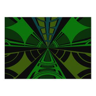 Diseño verde y negro del rectángulo invitación 12,7 x 17,8 cm