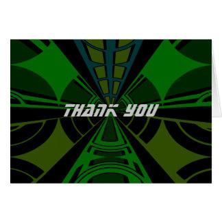 Diseño verde y negro del rectángulo tarjeta de felicitación