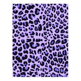 Diseño violeta del estampado de animales postal