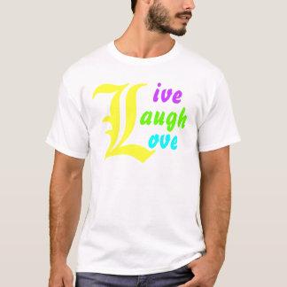 Diseño VIVO de la camiseta del AMOR de la RISA del