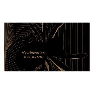 diseño web de la araña ÉL tarjeta de visita del in