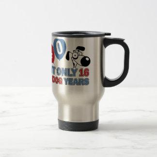 diseños 40 años de los años del perro taza de viaje
