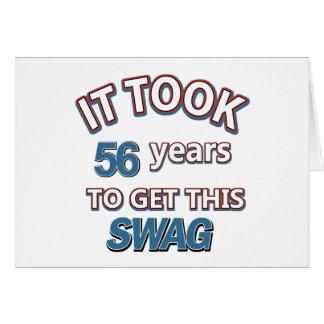 diseños 56 años tarjeta de felicitación