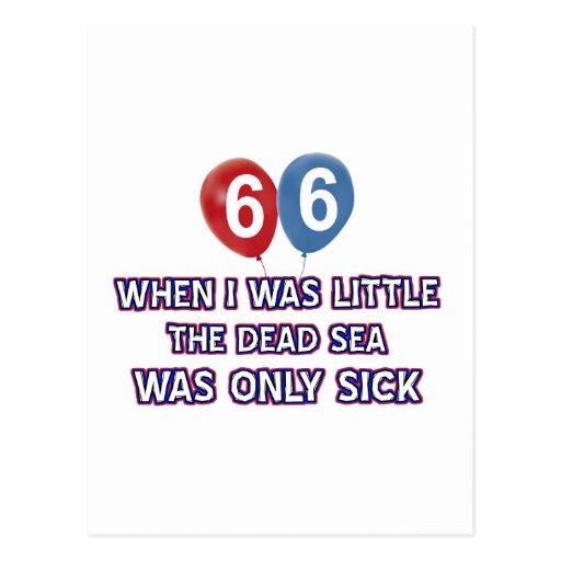 diseños 66 años del cumpleaños del mar muerto postal