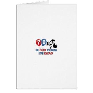 diseños 70 años de los años del perro tarjeta de felicitación