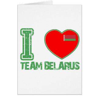 diseños bielorrusos tarjeta de felicitación