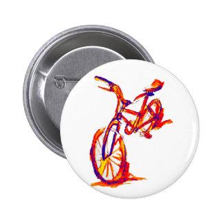 Diseños coloridos de la bici chapa redonda 5 cm