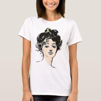 Diseños de la cabeza del chica de Gibson Camiseta