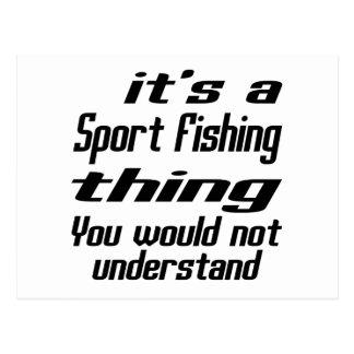 Diseños de la cosa de la pesca deportiva postal