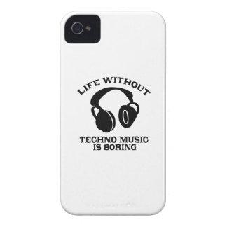 Diseños de la música de Techno Case-Mate iPhone 4 Protectores