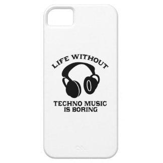 Diseños de la música de Techno iPhone 5 Cárcasa