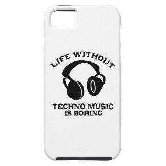 Diseños de la música de Techno iPhone 5 Case-Mate Carcasas